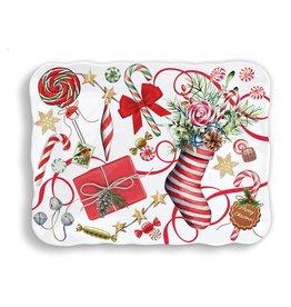 Michel Design Works Peppermint Melamine Cookie Tray