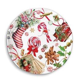 Michel Design Works Peppermint Melanine Cookie Plate