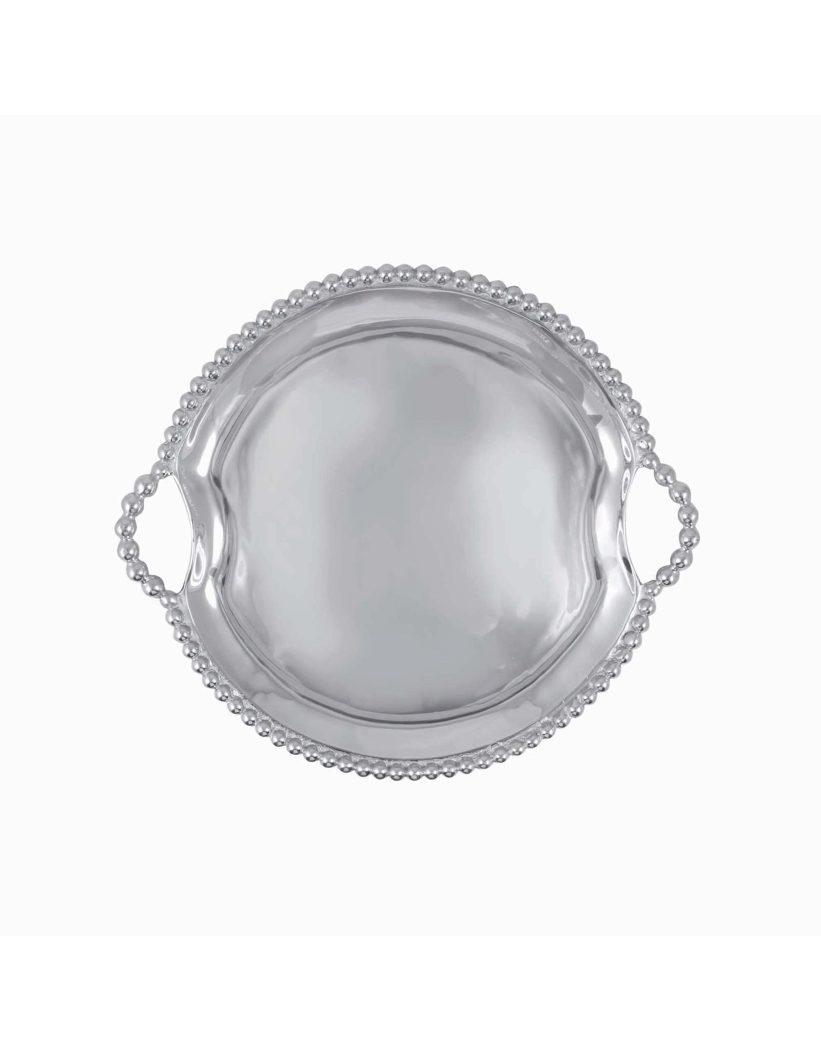 Mariposa Round Pearl HandledTray