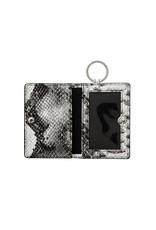 O Ventures Ossential Leather ID Case Tuxedo Snake Skin