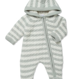 Angel Dear Sherpa Footie Grey 0-3mo