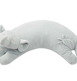 Angel Dear Curved Pillow Elephant Grey