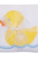 Three Marthas Burp Appliqued Yellow Duck