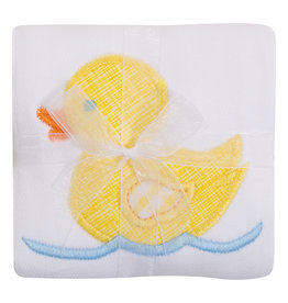 Three Marthas Burp Appliqued Yellow Duck