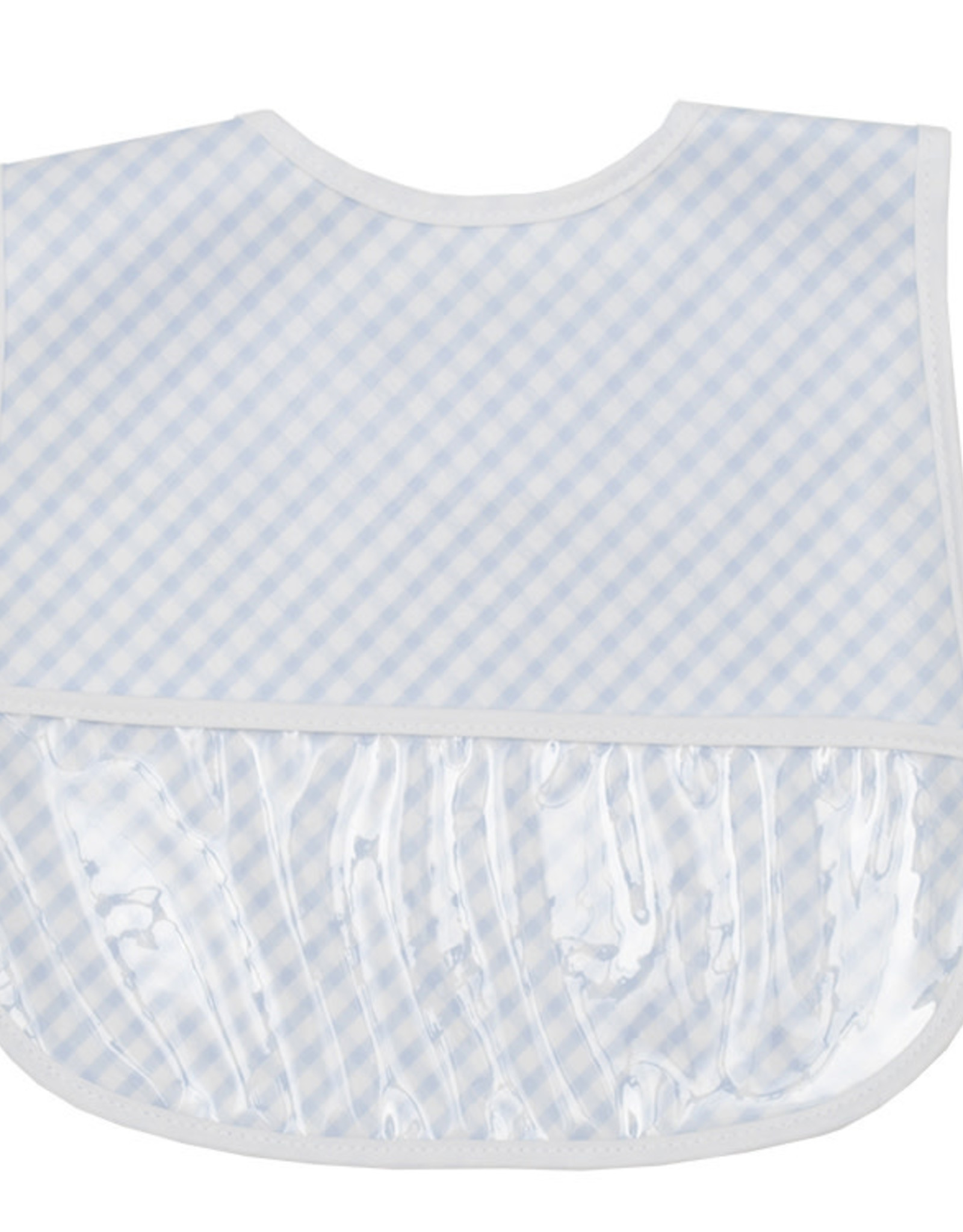 Three Marthas Bib Blue Check Laminated