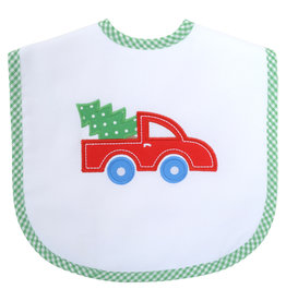 Three Marthas Toddler Bib Red Xmas Truck