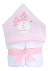 Three Marthas Everykid Towel Pink Snowman