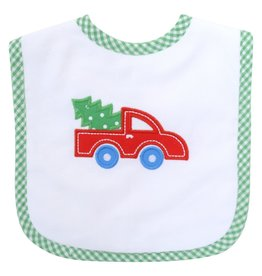 Three Marthas Feeding Bib Red Christmas Truck