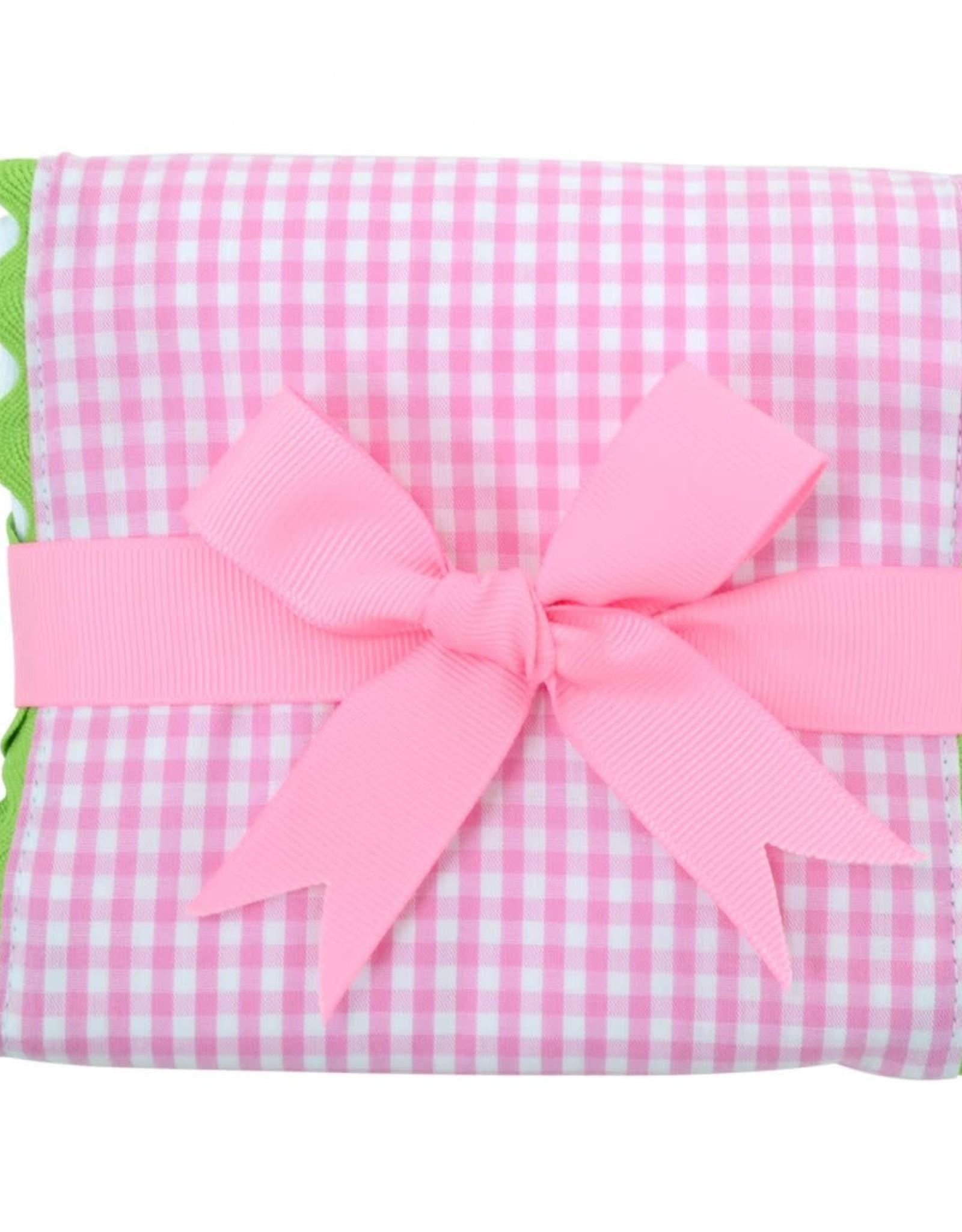 Three Marthas Fancy Burp Pink Xmas