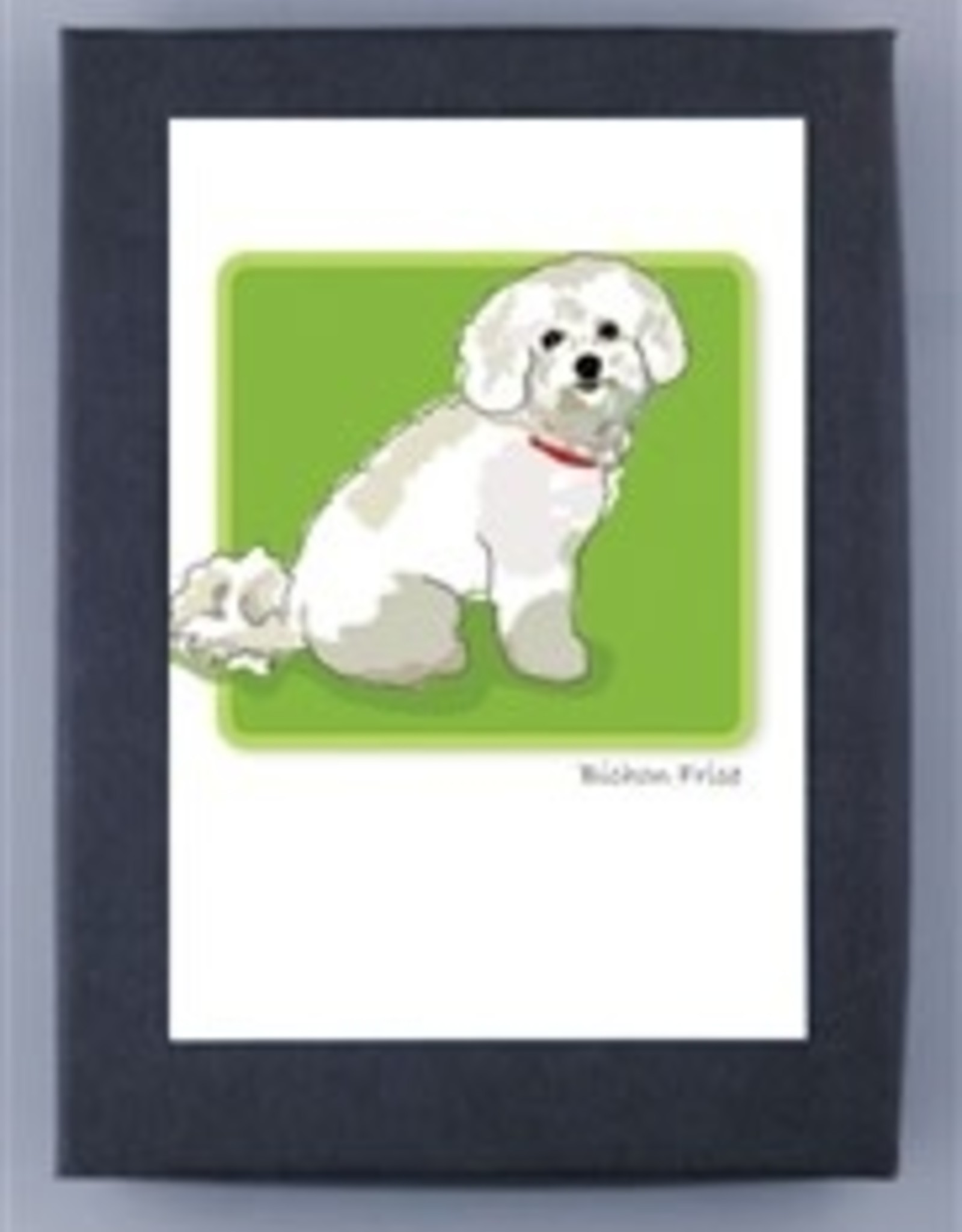Paper Russells Bichon Sitting Sideways-2