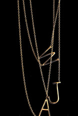 Gold Initial Necklace  .75""