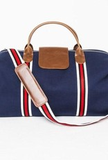 Brouk & Co Original Duffle Navy Blue Canvas red Stripes