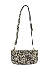 Joy Susan Grey Leopard Crossbody Wristlet Clutch