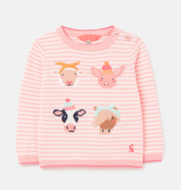 Joules Sweater Pink Faces