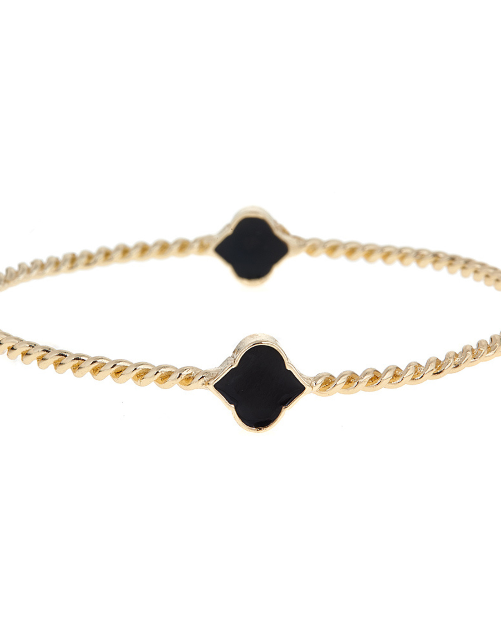 Fornash Bangle Rope Black  Spade