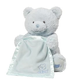 Gund Peek a boo Bear My First Blue