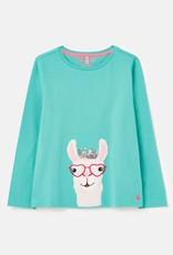 Joules Aqua Llama Top