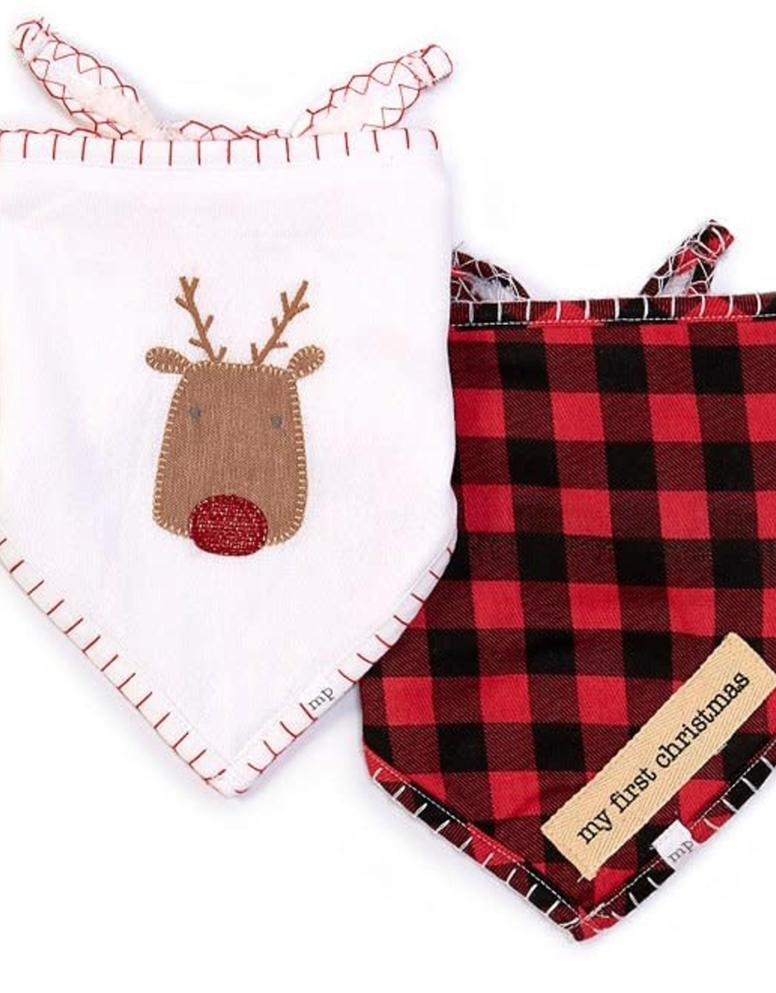 Reindeer Bandana Bibs Set