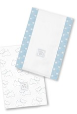 Swaddle Designs Baby Burpies Little Doggie Pastel Blue