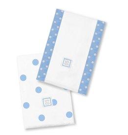 Swaddle Designs Baby Burpies Big Dots Blue-Set 2