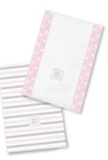 Swaddle Designs Baby Burpies Geo Floral/Pastel Pink