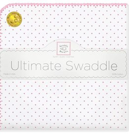 Swaddle Designs Ultimate Swaddle Blanket Classic Polka Dots Pink