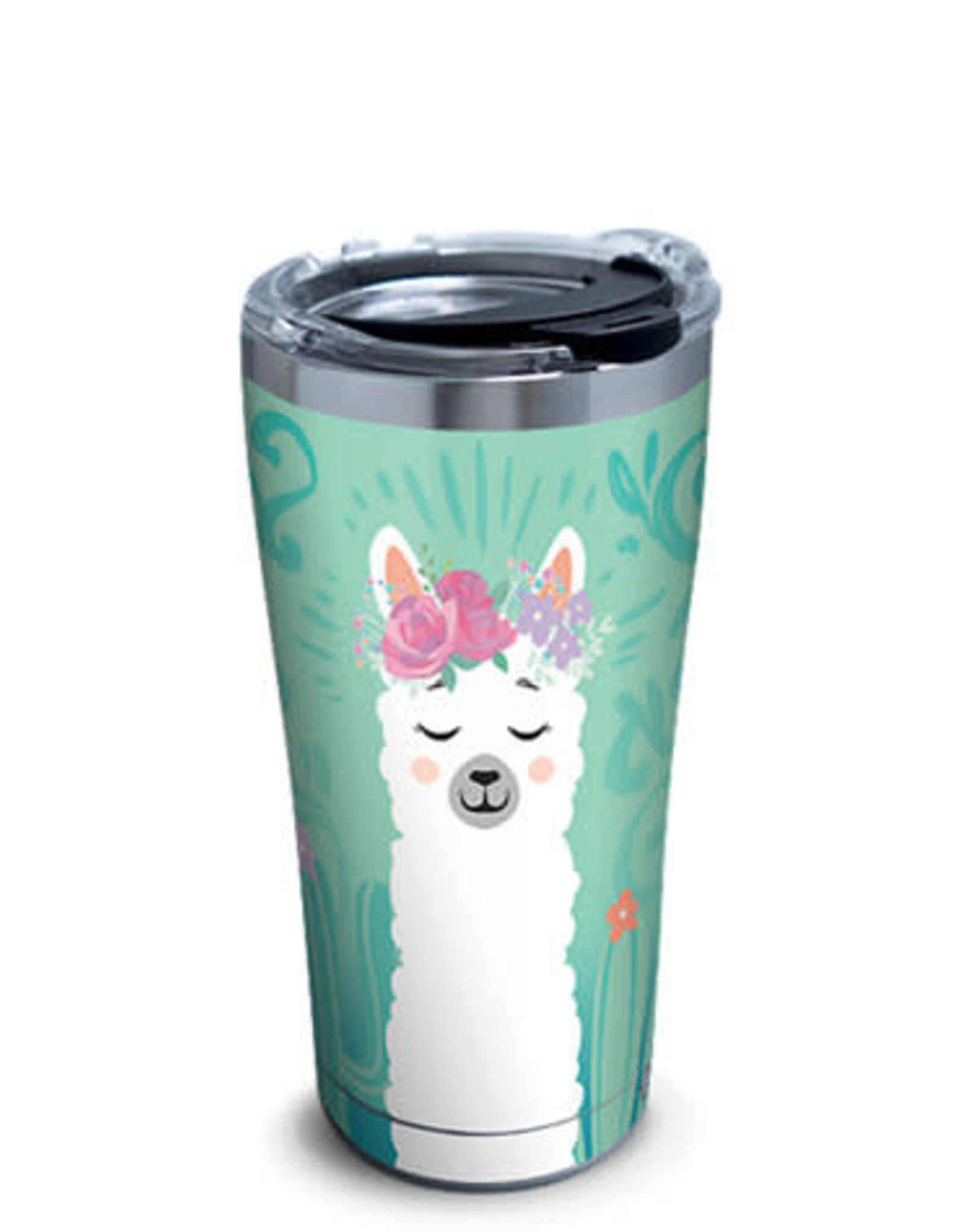 Tervis Tumbler 20oz/lid Llama Floral Stainless