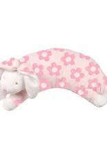 Angel Dear Curved Pillow Flower Print Bunny