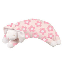 Angel Dear Curved Pillow Flower Print Bunny