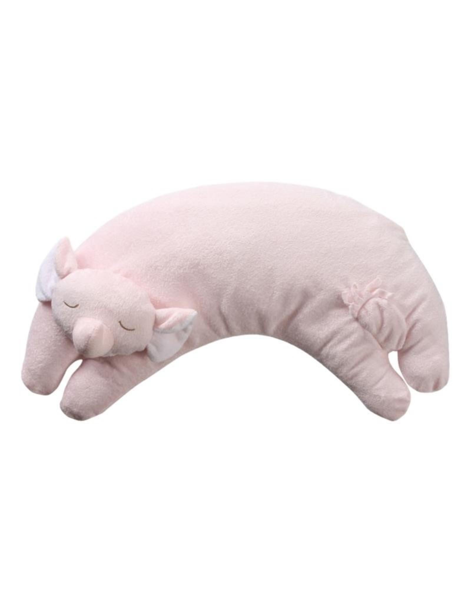 Angel Dear Curved Pillow Pink Elephant