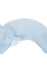 Angel Dear Curved Pillow Blue Elephant