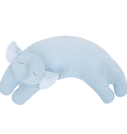 Angel Dear Curved Pillow Blue Elephant
