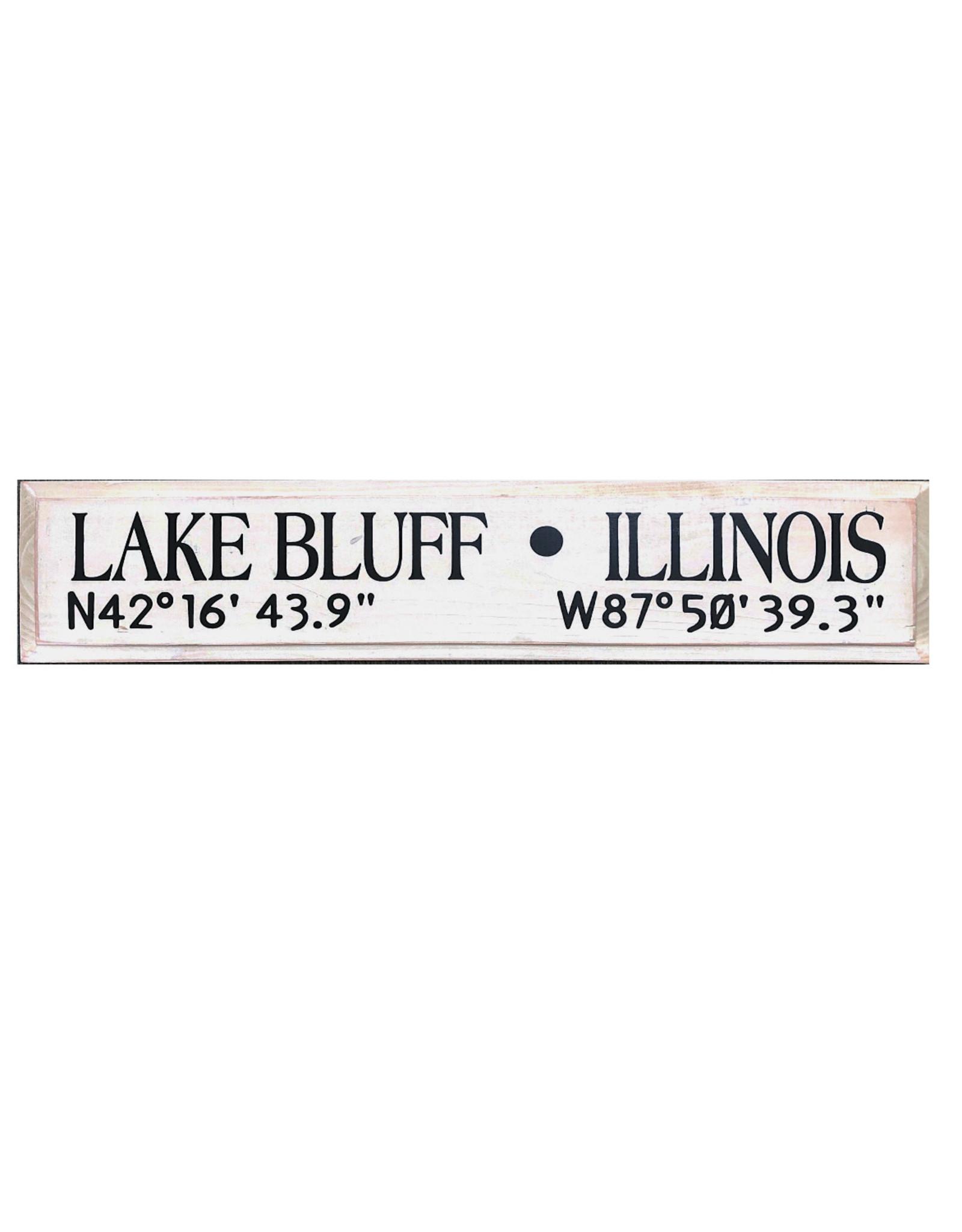 Lake Bluff Long/Lat Sign