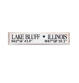 Lake Bluff Long/Lat Sign