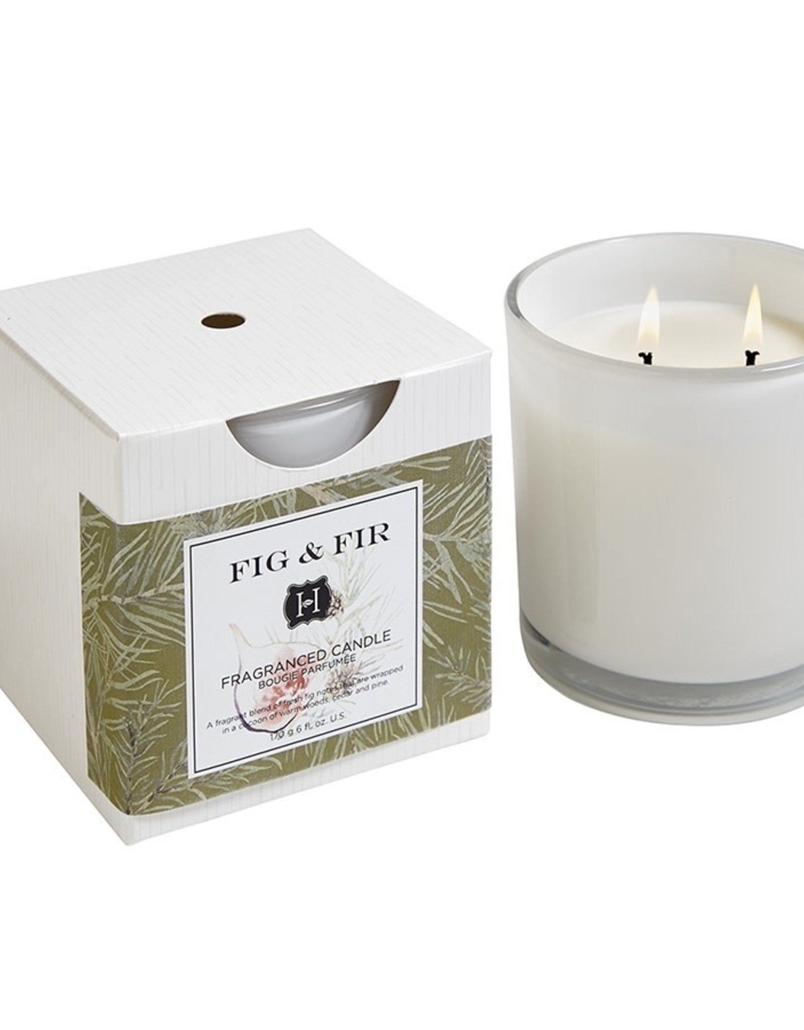 Hillhouse Naturals Fig & Fir 2 Wick Candle in Glass 12oz