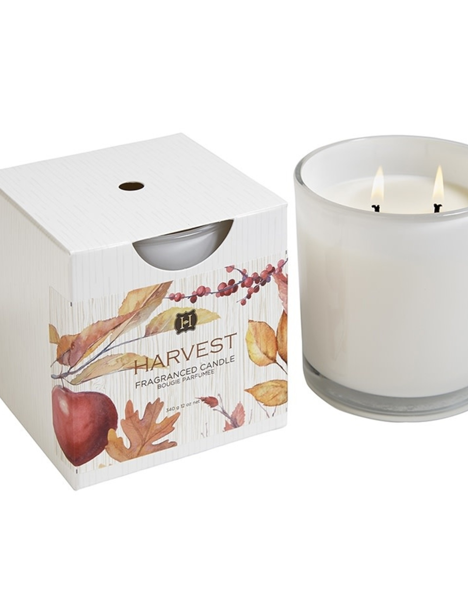 Joules Harvest 2 Wick White Candle in Glass 12oz
