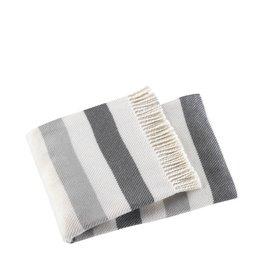 A Soft Idea Throw Sweet Stripes Mid Grey