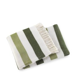 A Soft Idea Throw Sweet Stripes Olive