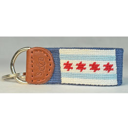Smather's & Branson Key Fob Chicago Flag