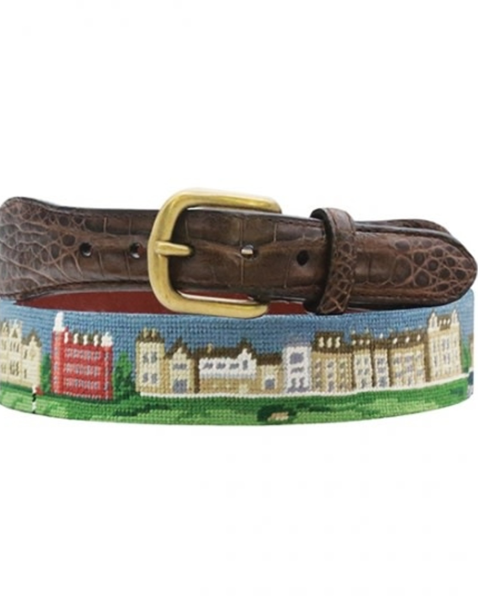 Smather's & Branson Belt St Andrews size 40 Real Crocodile Tabs