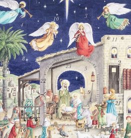 Nativity w/Angels Advent Calendar