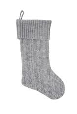 Gray Knit Stocking