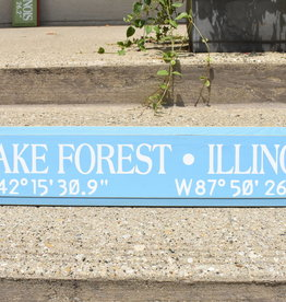Lake Forest Long/Lat Sign
