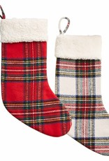 Sherpa White Tartan Stocking