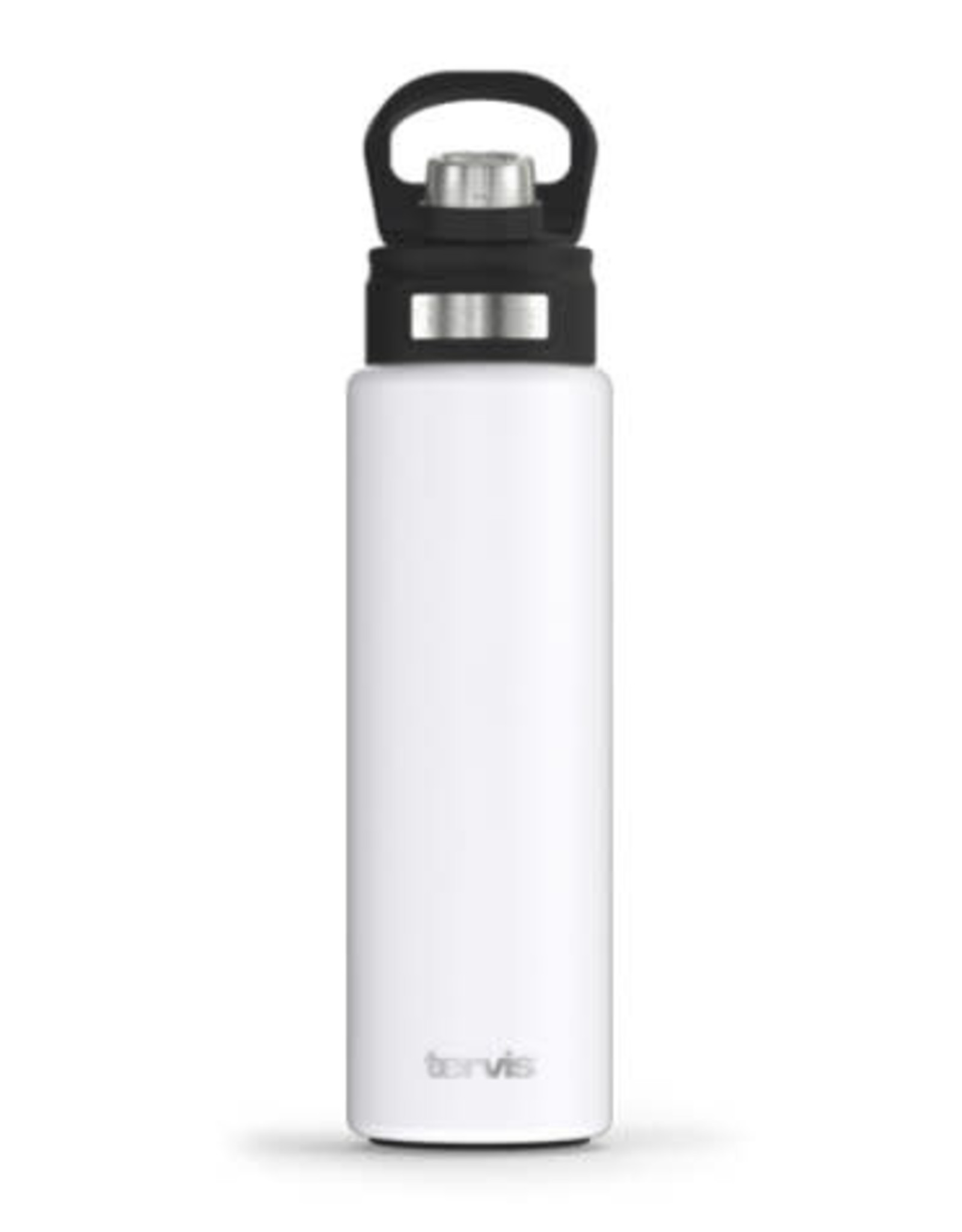 Tervis Tumbler 24oz Stainless Water Bottle Glacier White Powder Coated