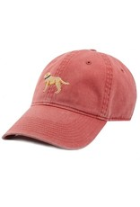 Smather's & Branson Hat Yellow Lab on Nantucket Red