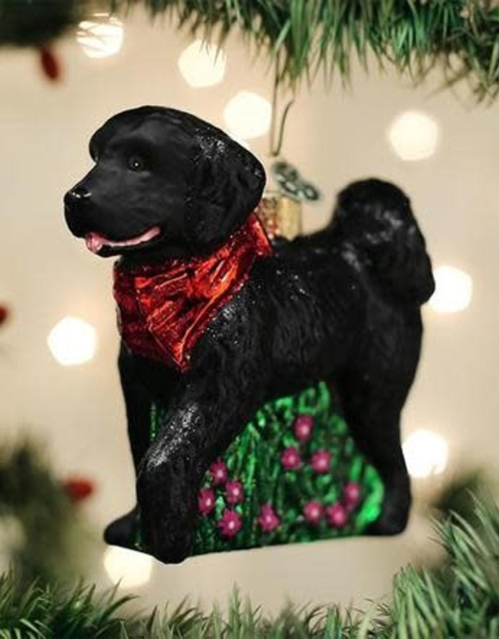 Black Doodle Ornament