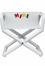 Hoohobbers Hoohobber Jr. Director Chair White Mesh Seat White Trim