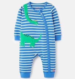 Joules Zip Babygrow Green Dinos