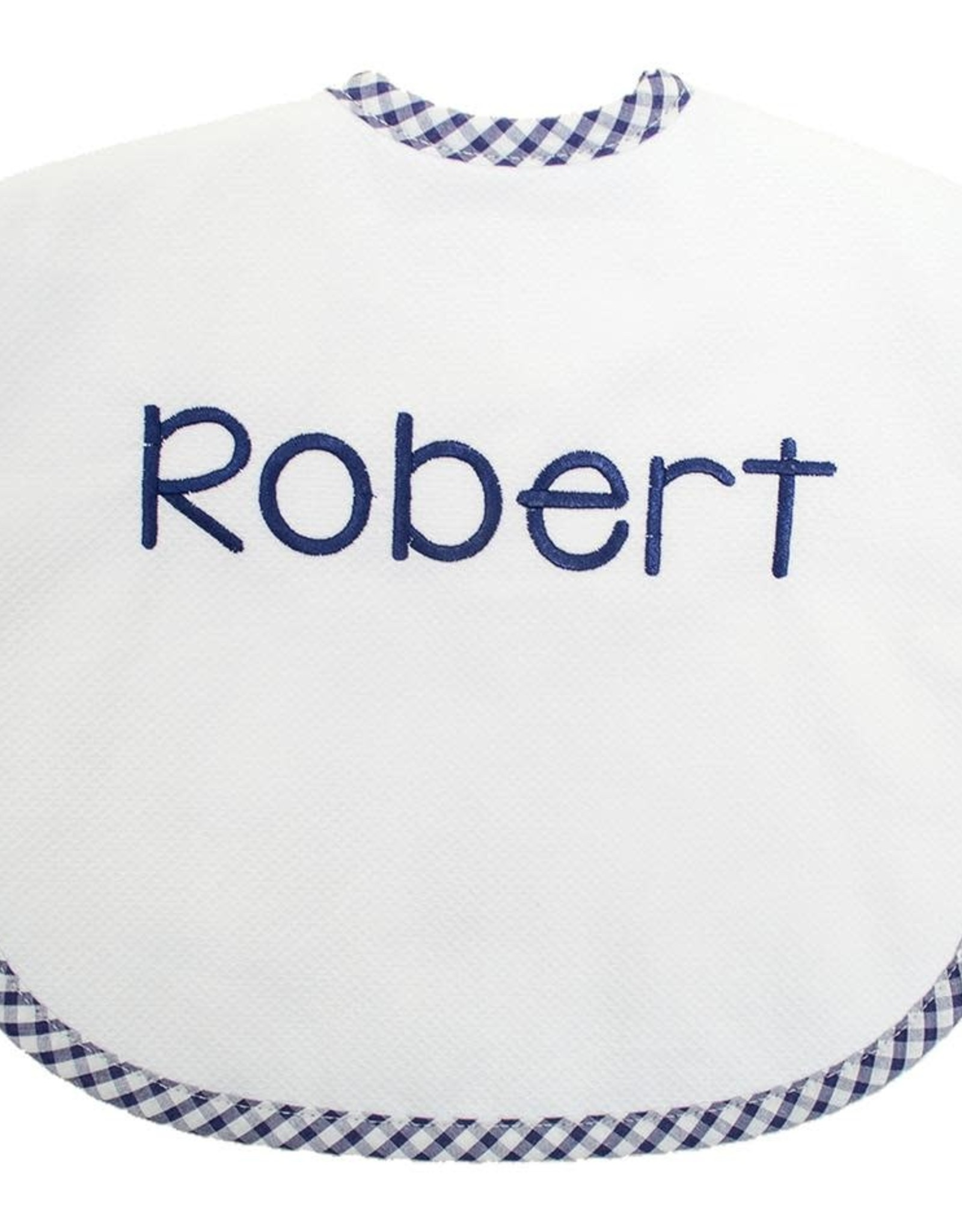 Three Marthas Bib Toddler Navy Check